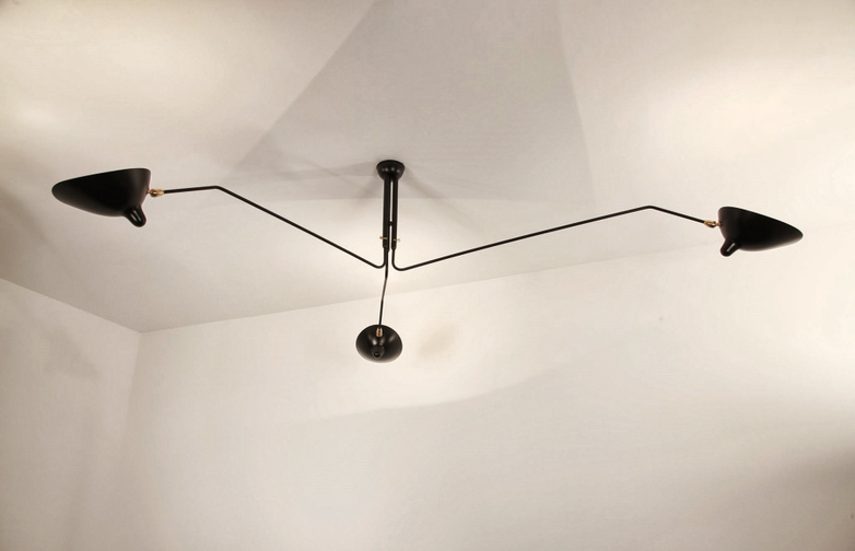 Ceiling Lamp with Three Rotating Arms
