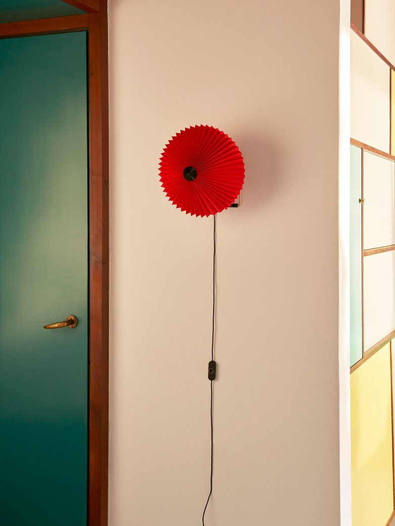 Matin Wall Lamp 30 cm - Bright Red