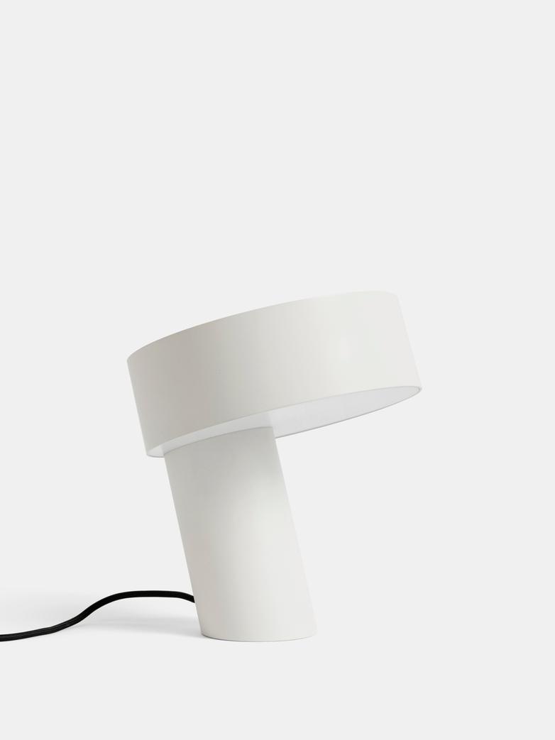 Slant Table Lamp - White