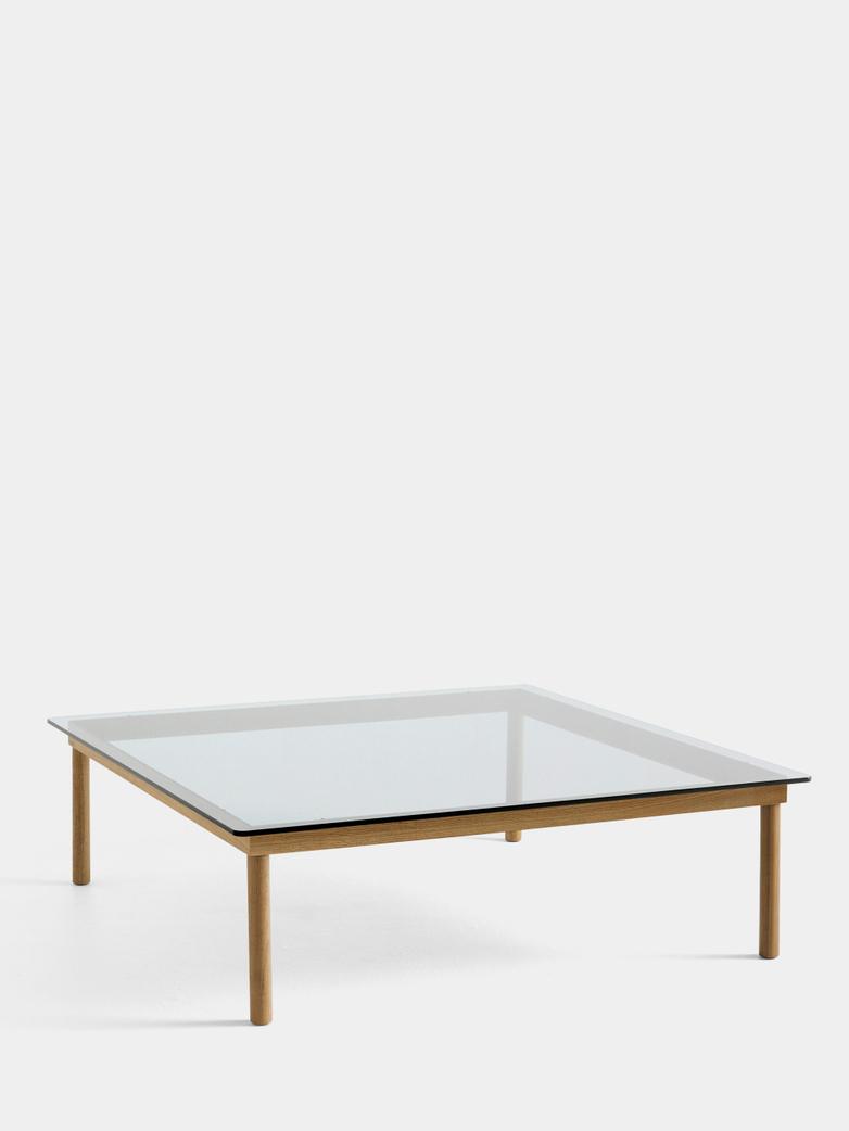 Kofi Coffee Table - Lacquered Oak/Clear Glass - 120 x 120 cm