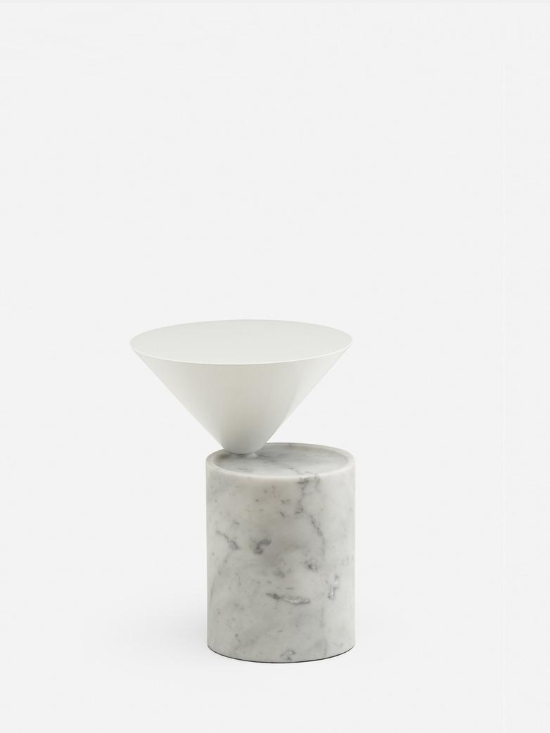 Carrara Marble/White Gloss