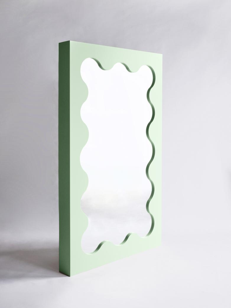 Curvy Mirror - Green