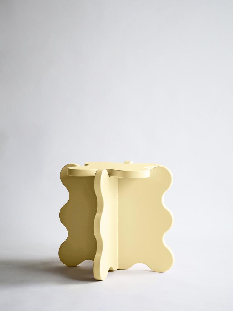Curvy Table Mini - Light Yellow