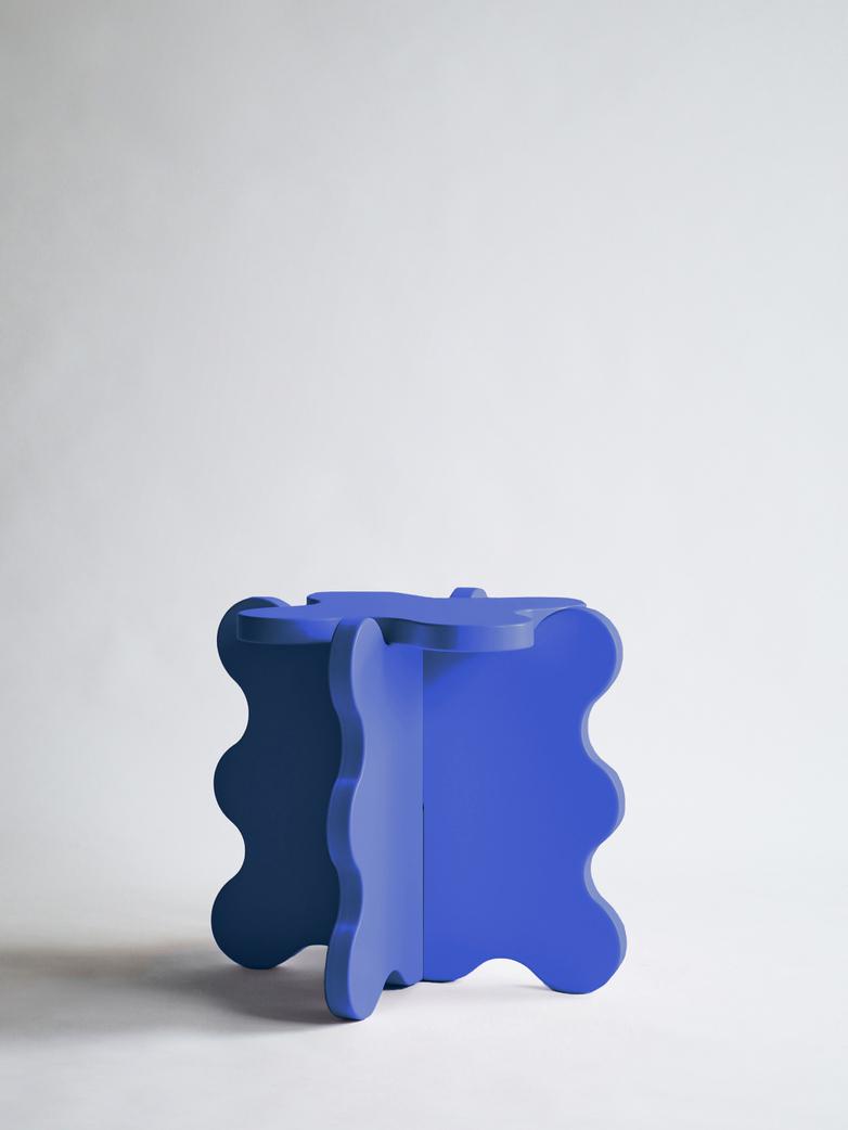 Curvy Table Mini - Cobalt Blue