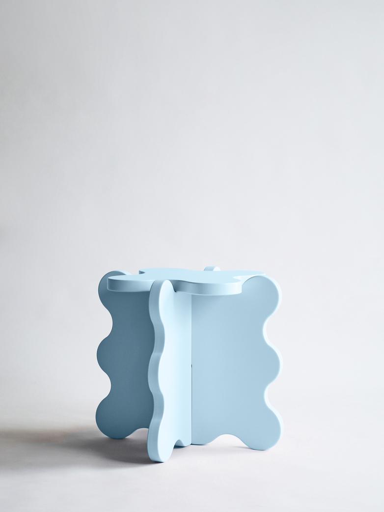 Curvy Table Mini - Light Blue
