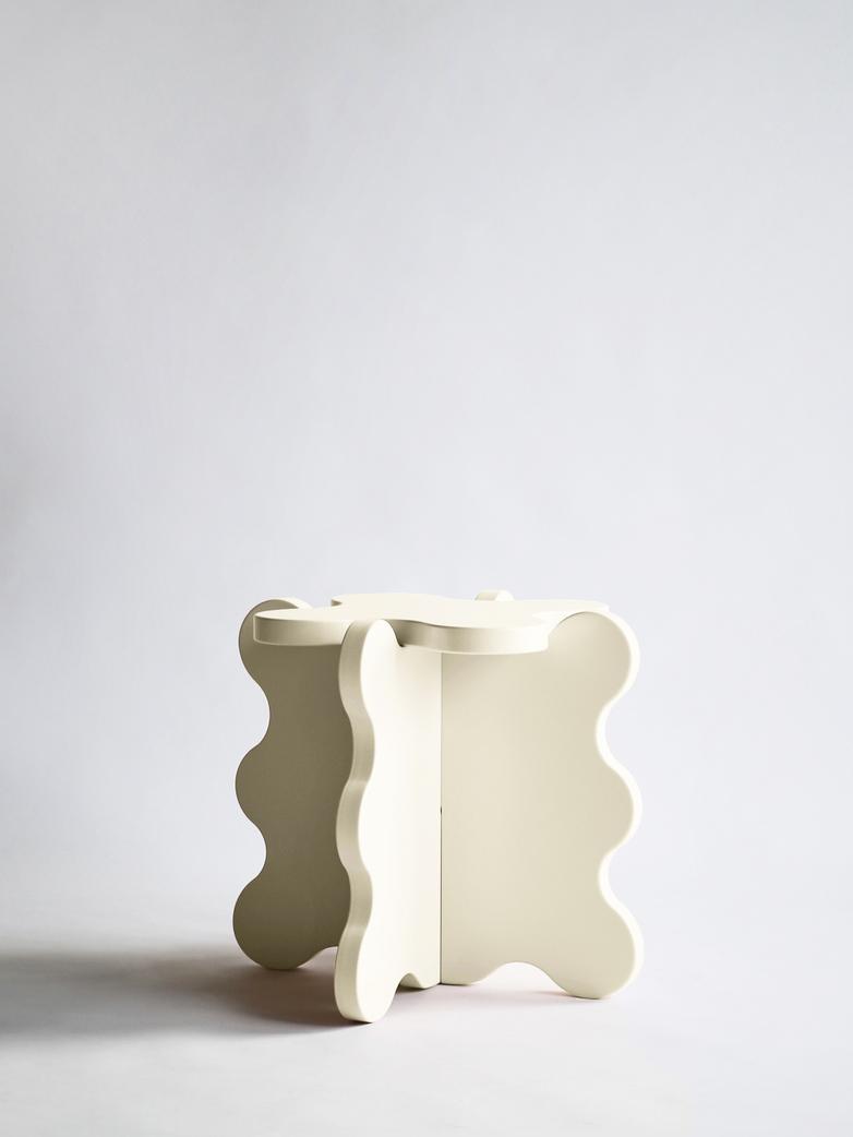 Curvy Table Mini - Cream