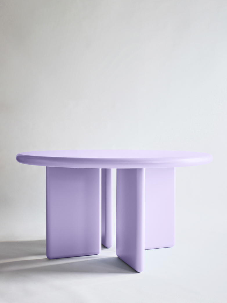 Chunky Round Table - Lilac – 140
