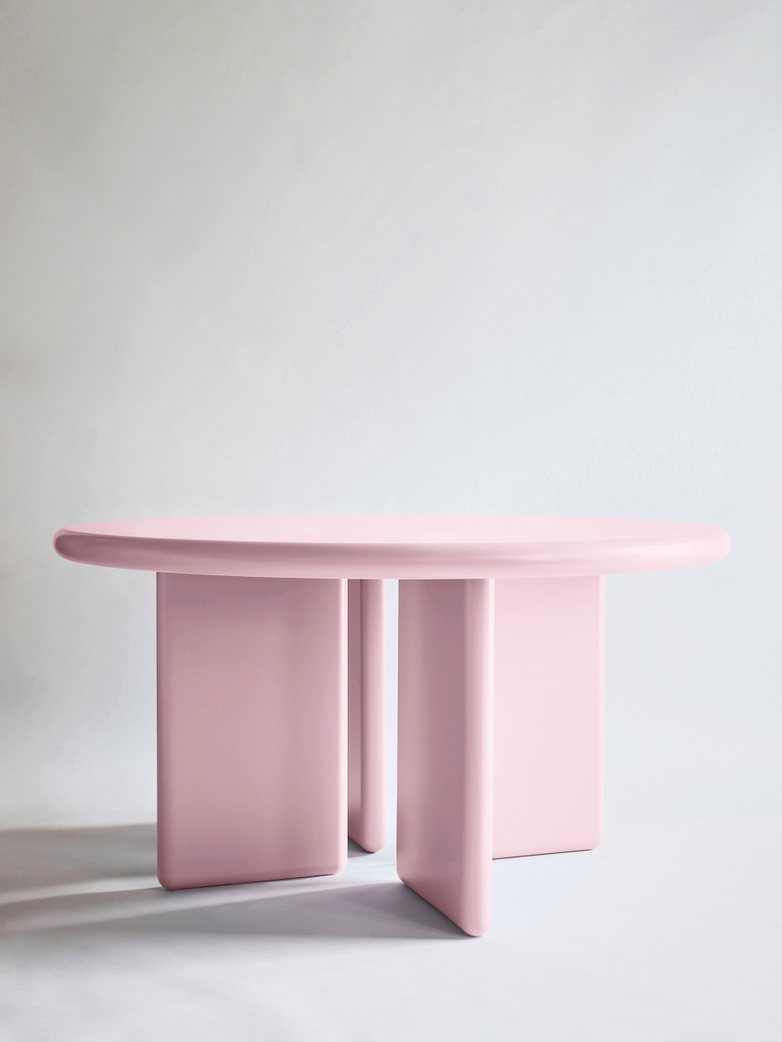 Chunky Round Table - Pink - 140
