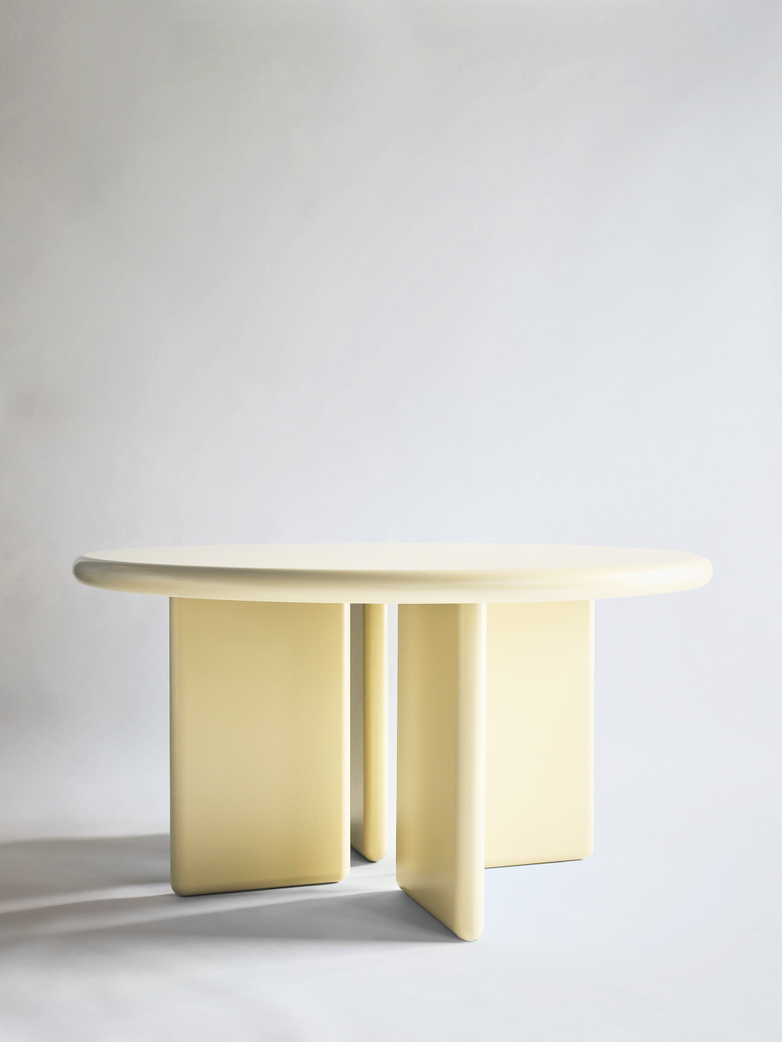 Chunky Round Table - Light Yellow - 140