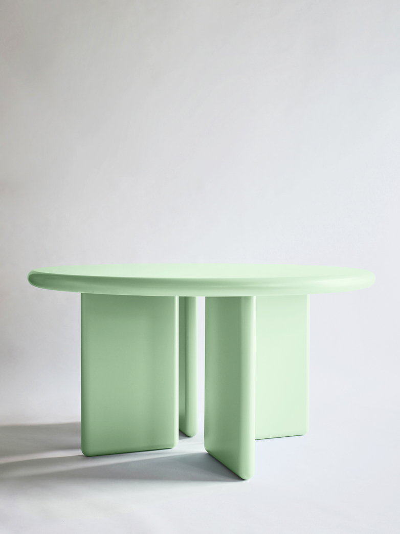 Chunky Round Table - Green - 140