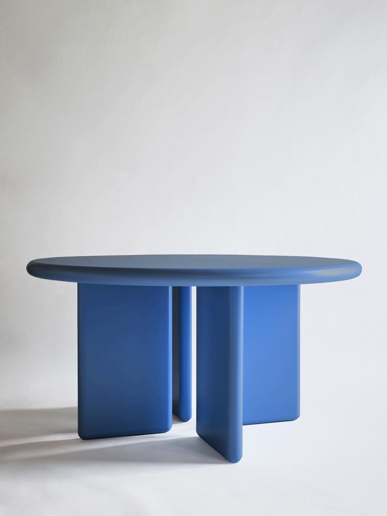 Chunky Round Table - Cobalt Blue - 140