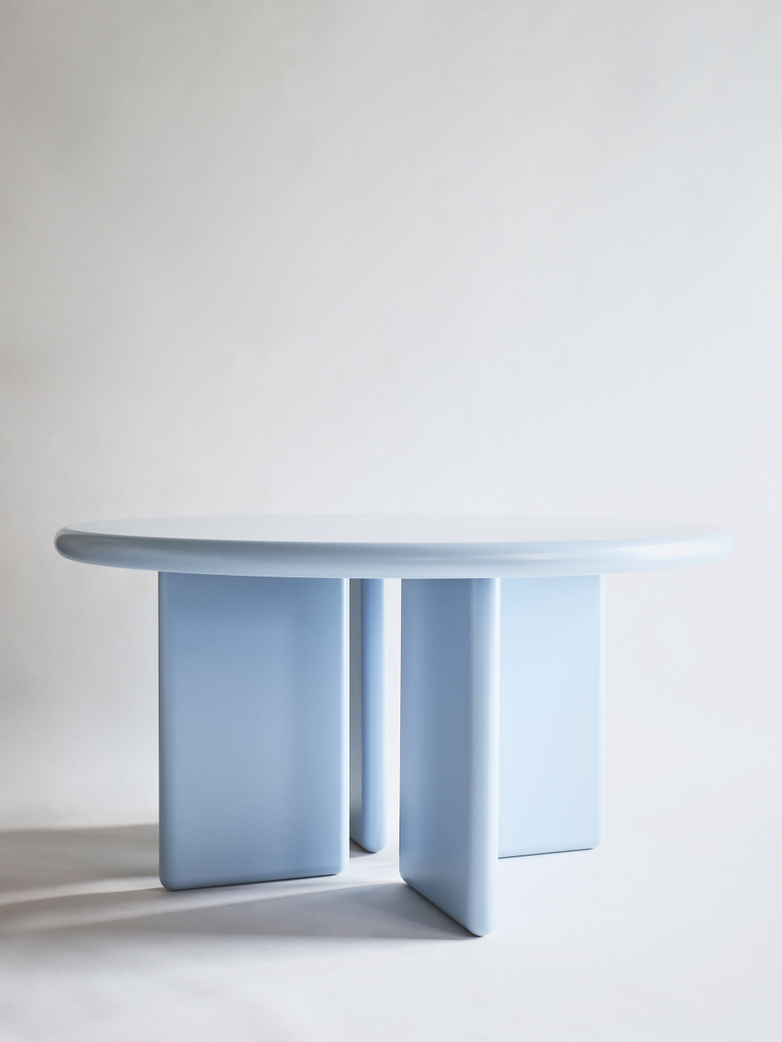 Chunky Round Table - Light Blue - 140