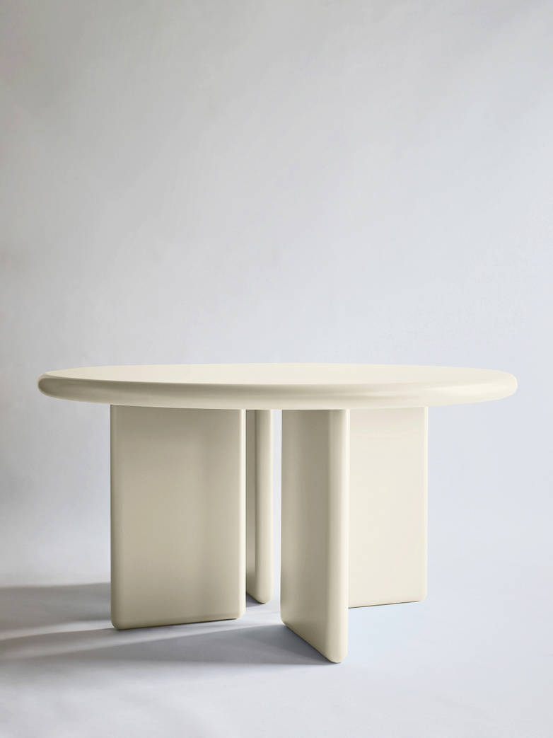 Chunky Round Table - Cream - 140