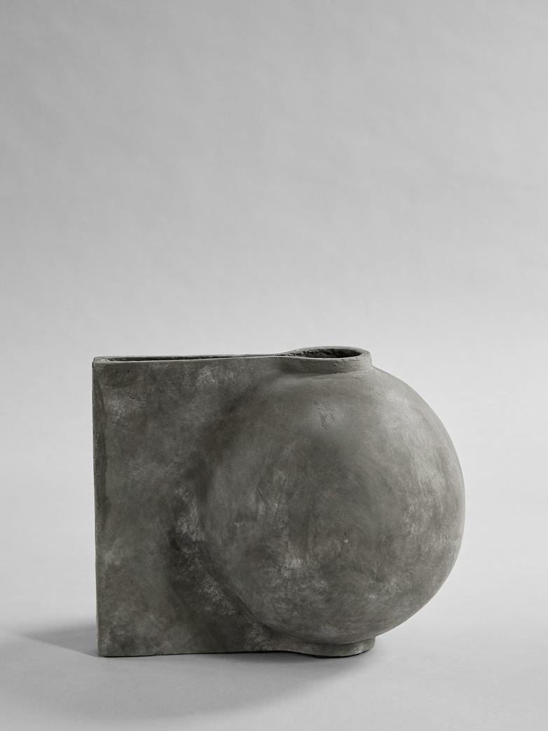 Offset Vase - Dark Grey - Mini