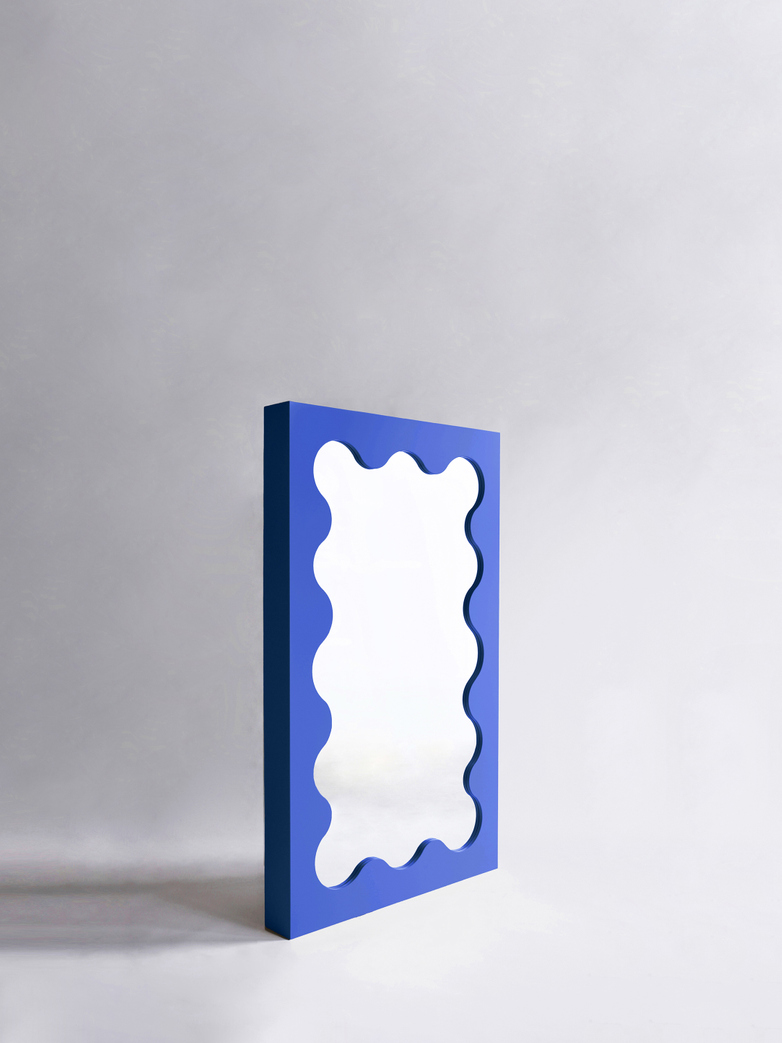 Curvy Mirror Mini - Cobalt Blue