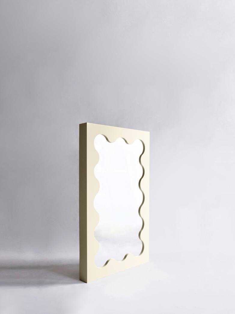 Curvy Mirror Mini - Cream