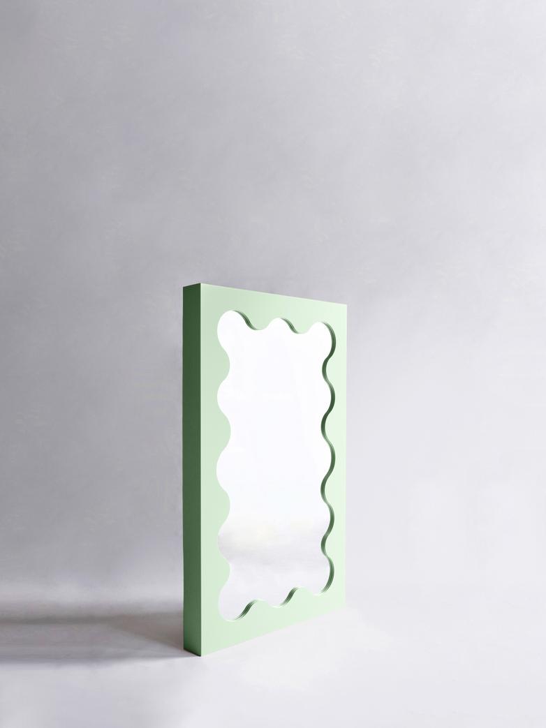 Curvy Mirror Mini - Green