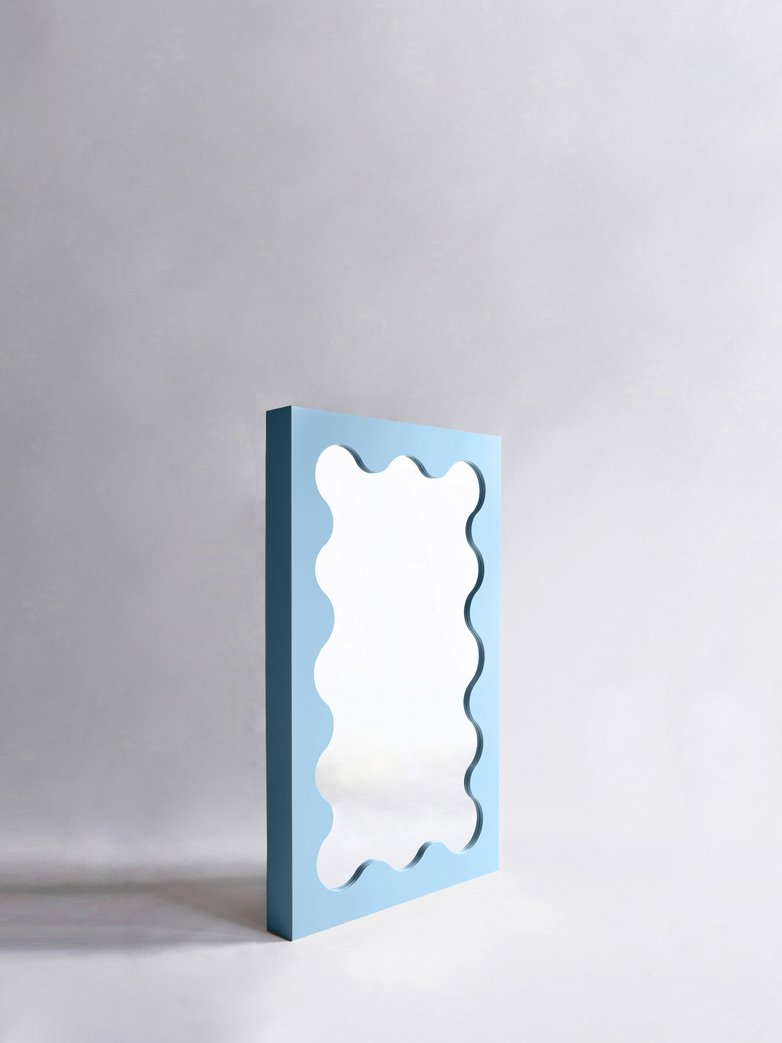 Curvy Mirror Mini - Light Blue