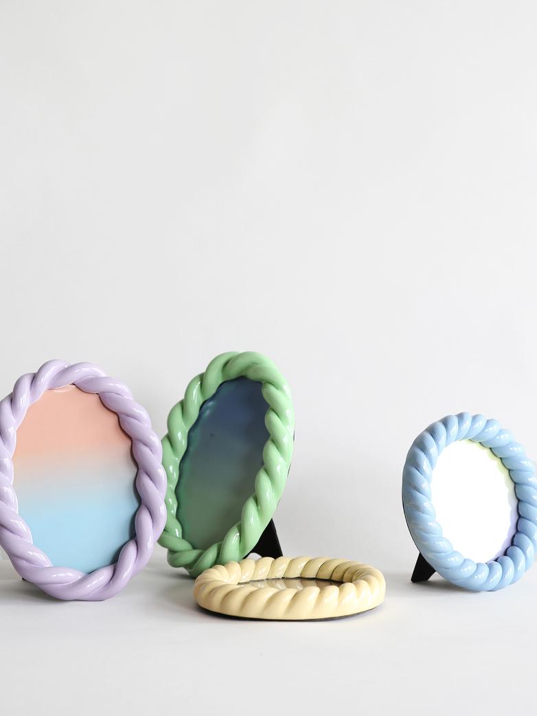Braid Photo Frame Oval - Lilac