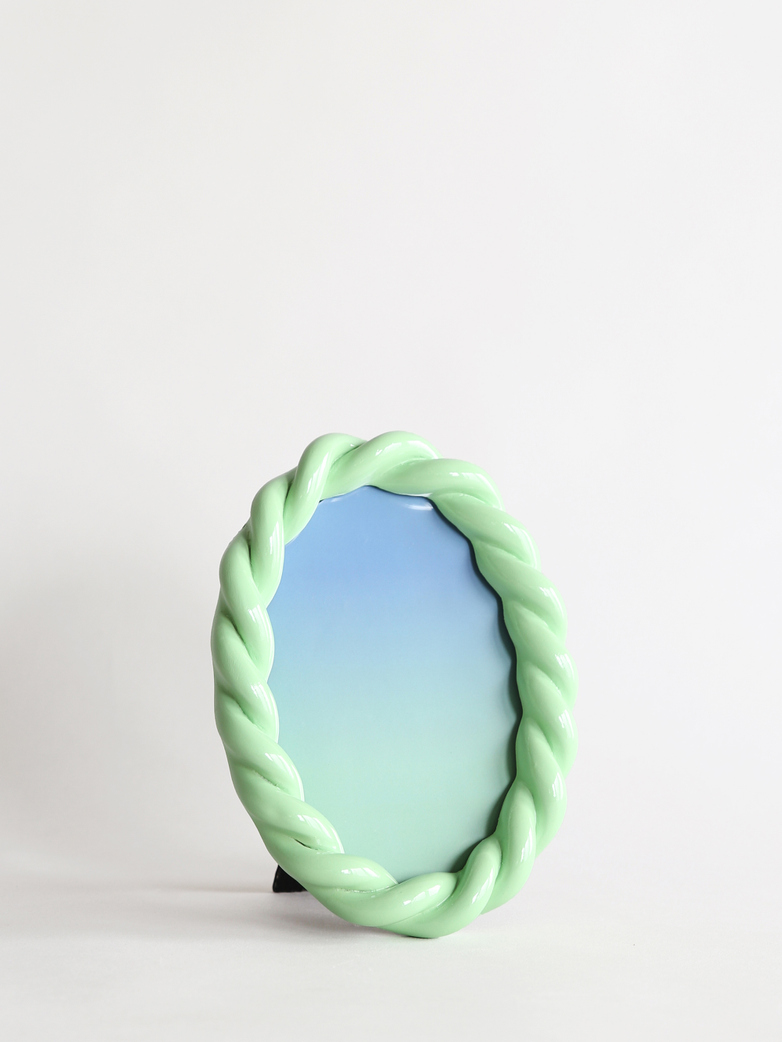 Braid Photo Frame Oval - Mint