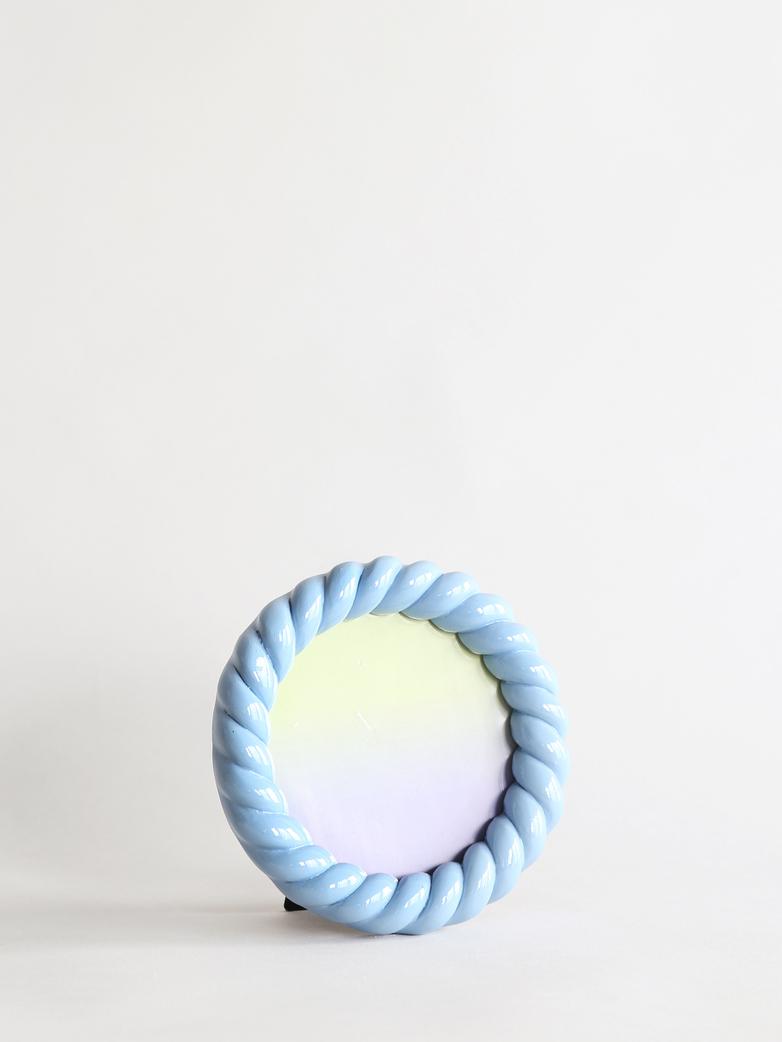 Braid Photo Frame Round - Blue