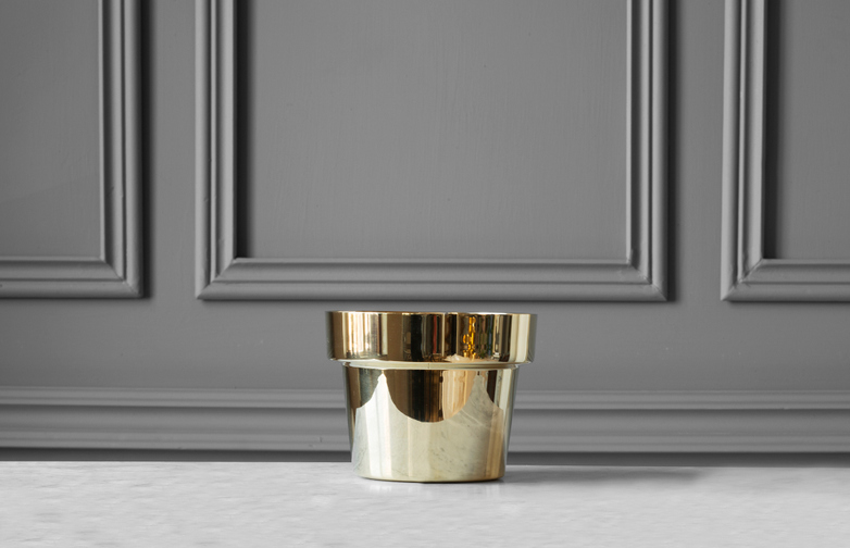Flower Pot Polished Brass - X-Small