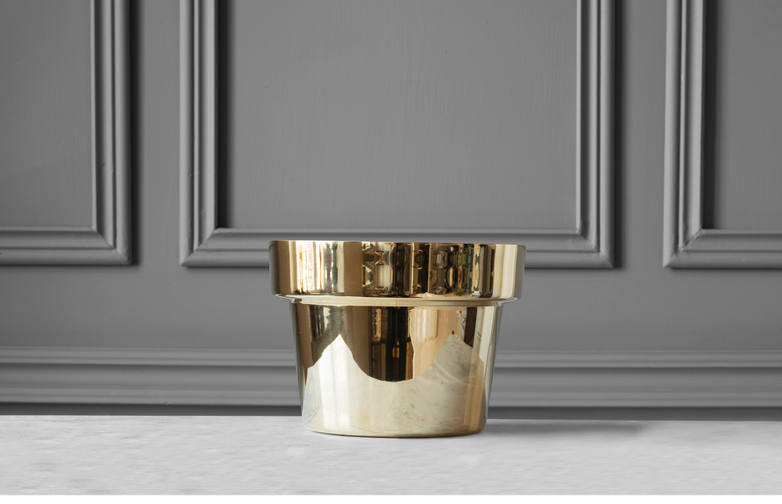 Floweer Pot Polished Brass - Small