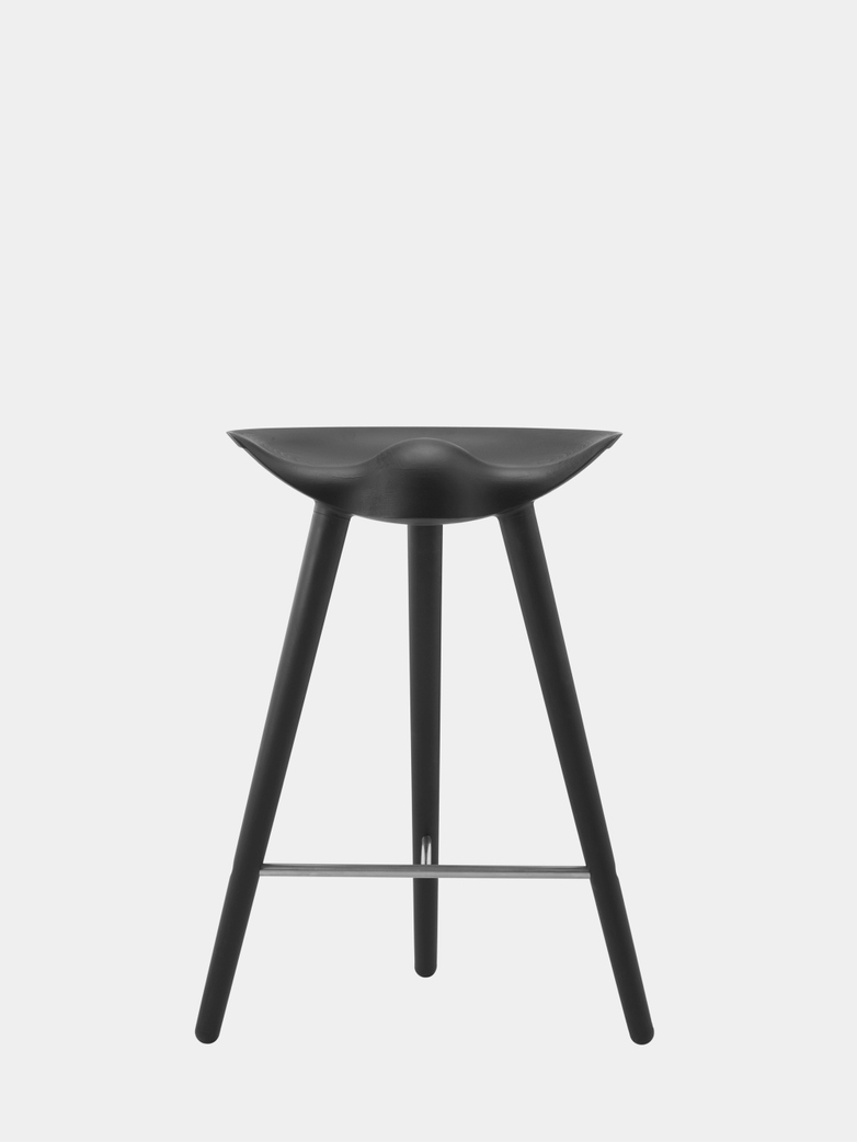 Black Stained Beech - Stainless Steel