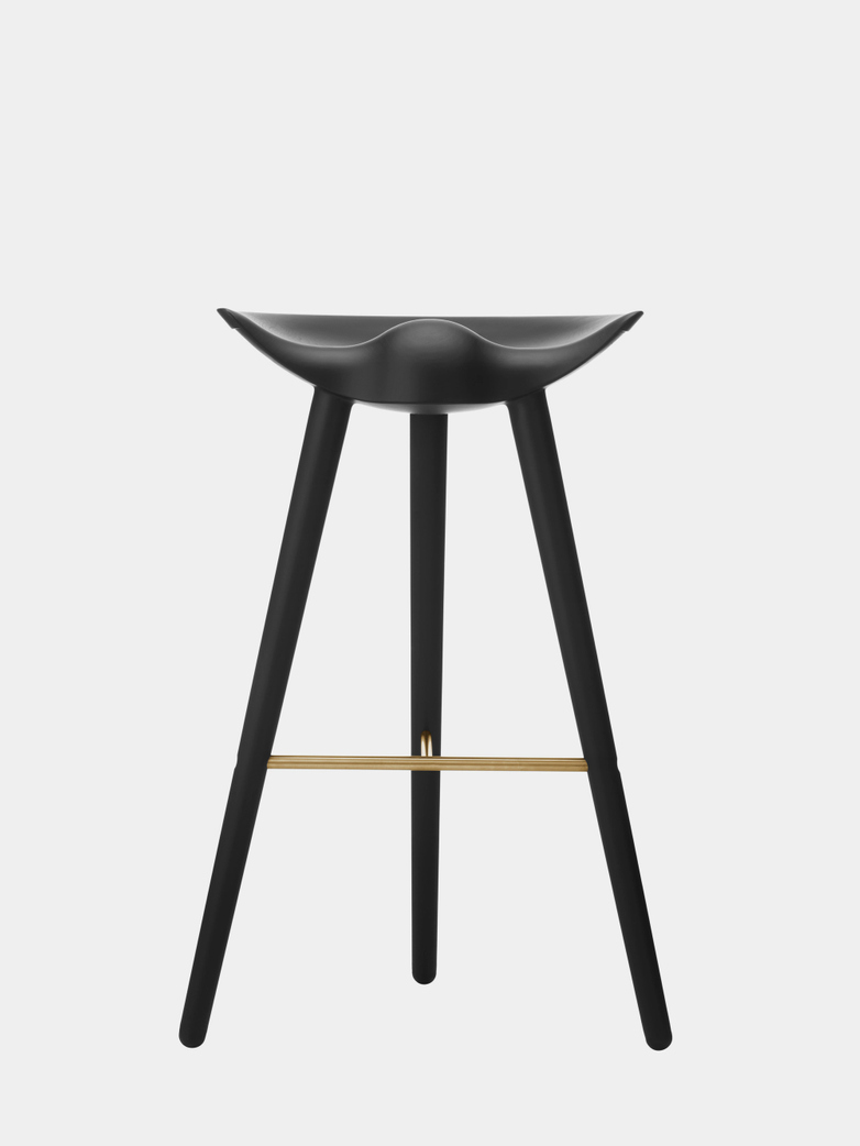 Black Stained Beech - Brass