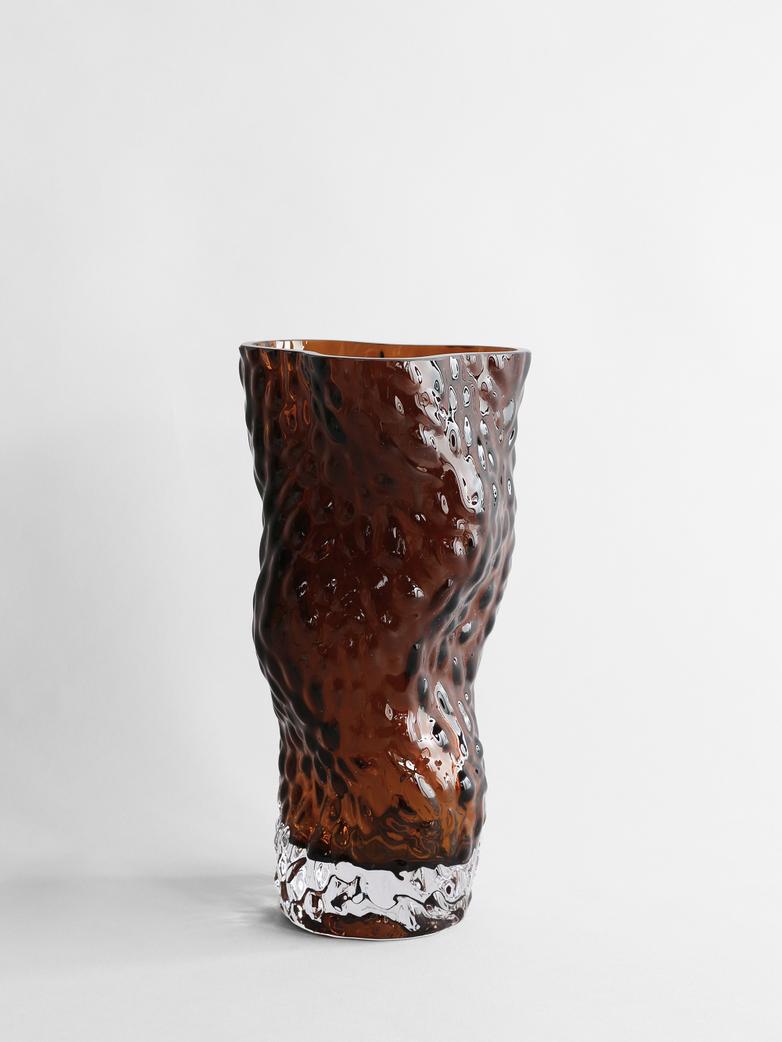 Ostrea Rock Glass Vase - Rust
