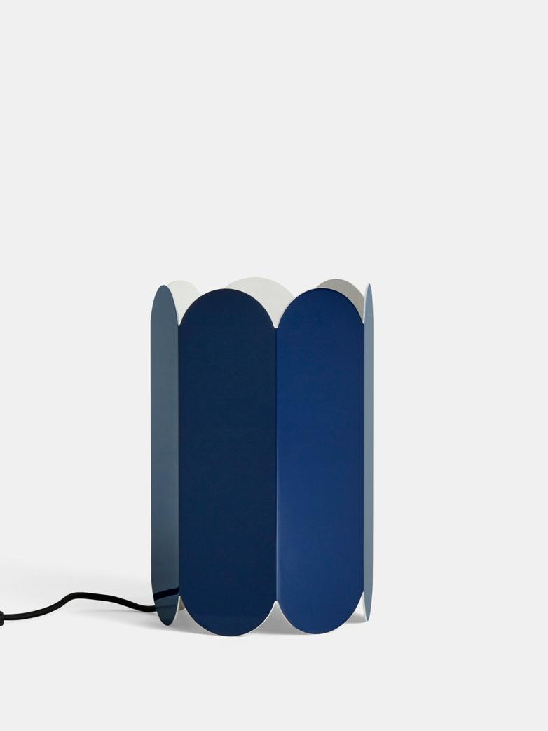 Arcs Cobalt Blue Table Lamp