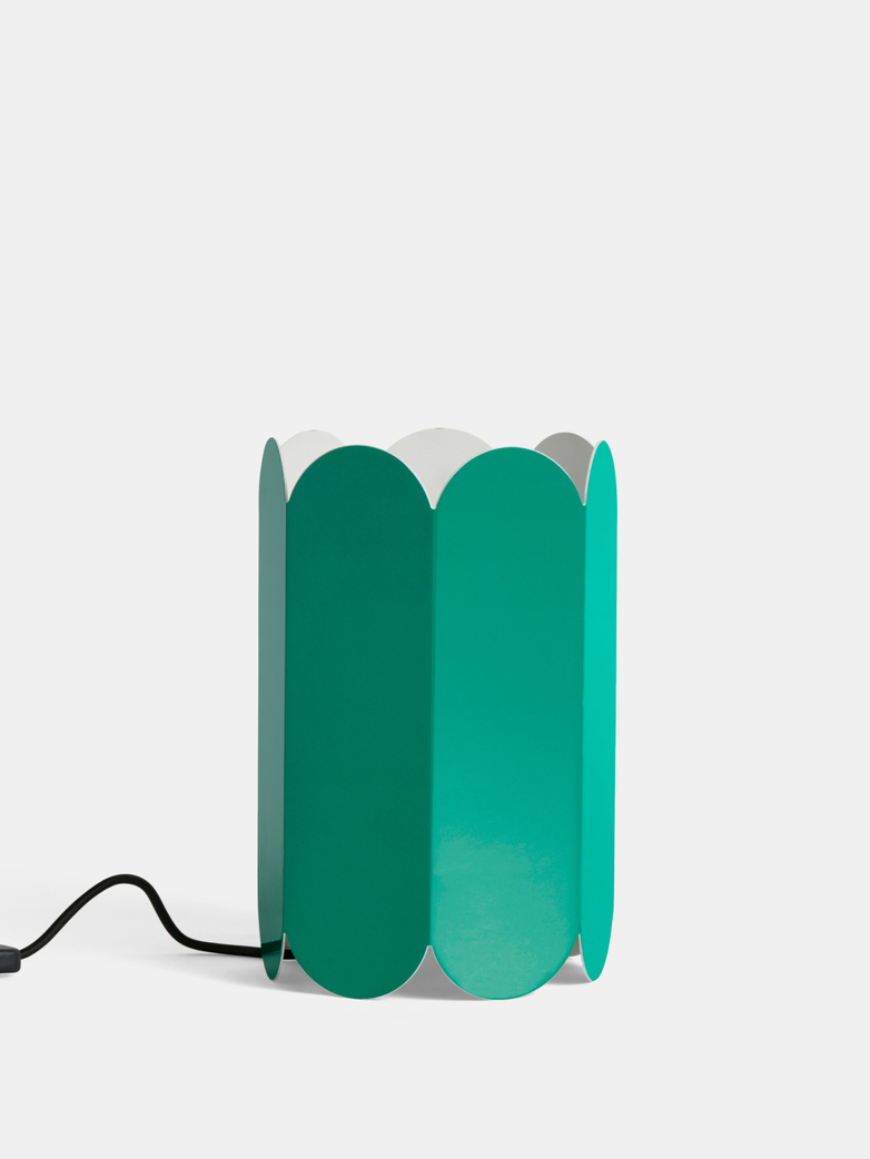 Arcs Sea Green Table Lamp