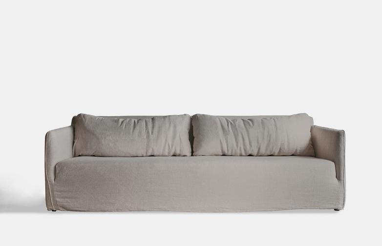 Box Sofa – 4 Seater - Beige