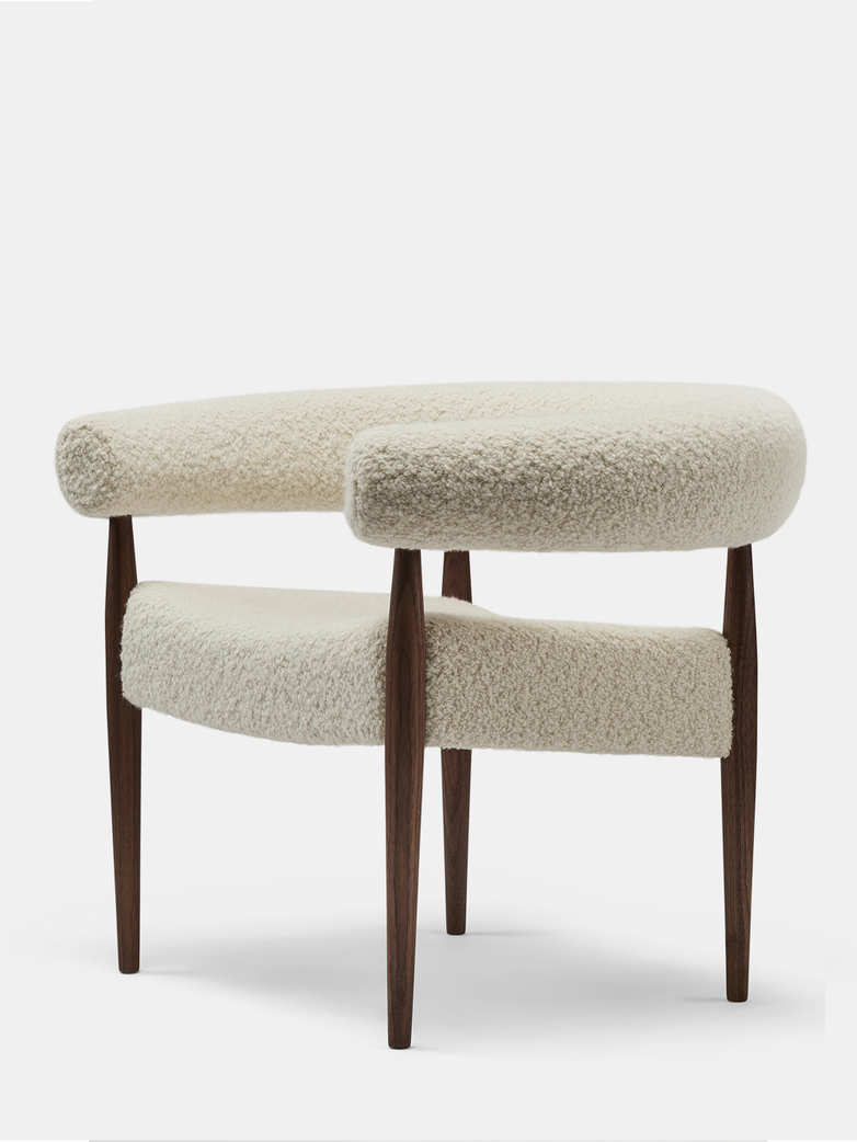 Ring Chair - Walnut/Curly Wool