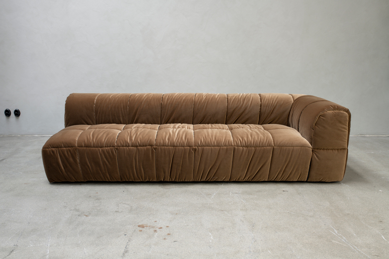 Sample Sale - Strips Element 245x95 cm, Right Arm, Fabric; Mistral 06, with Cushion 90 x 90 cm
