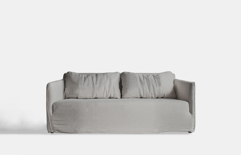 Box Sofa – 1,5 Seater - Grey