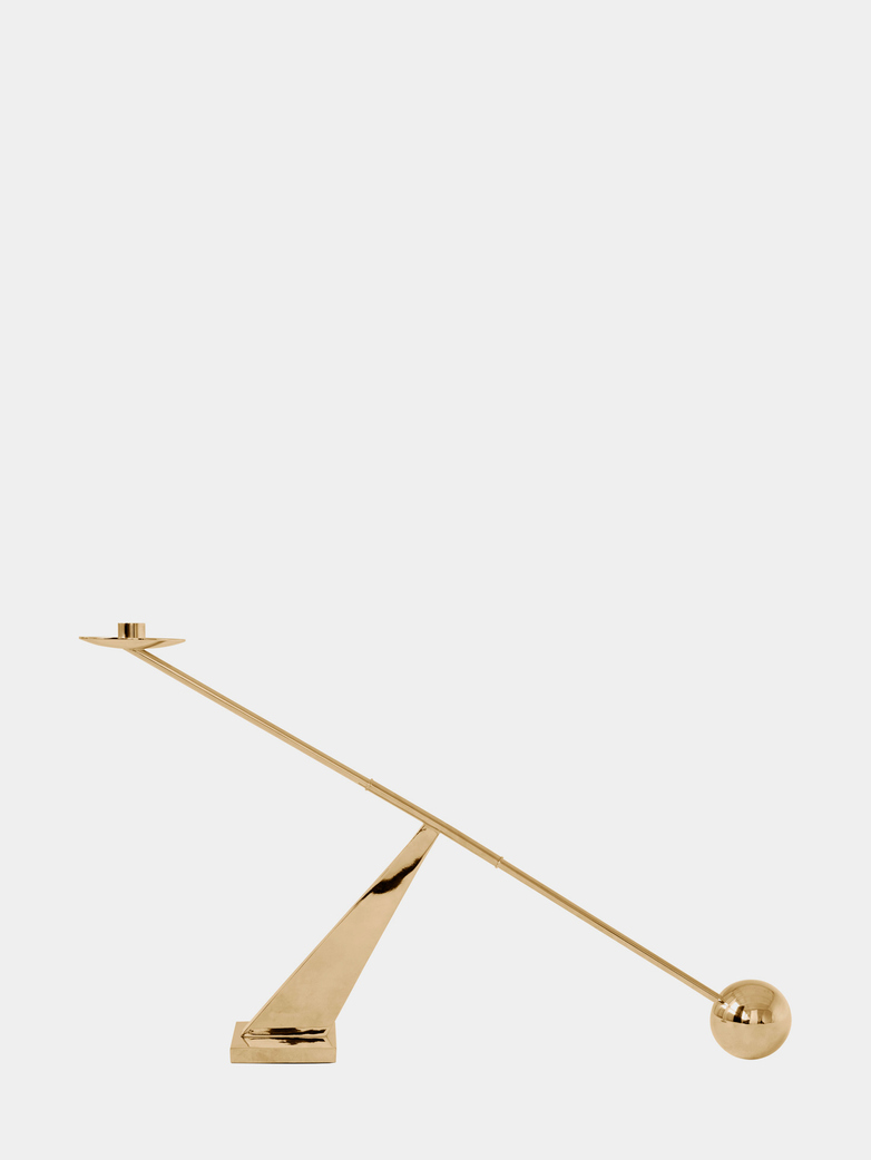 Interconnect Candle Holder - Polished Brass