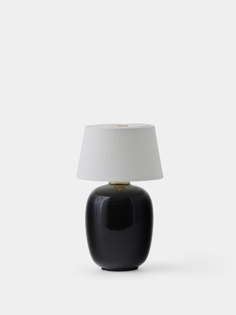 Torso Table Lamp Portable - Black