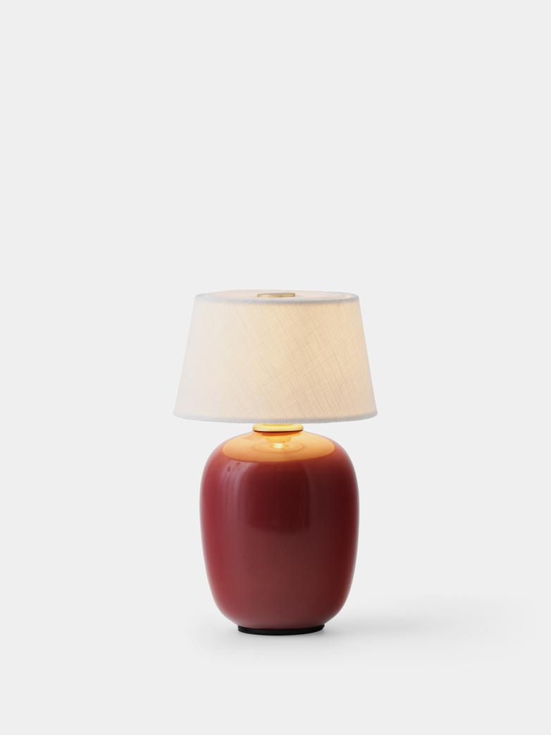 Torso Table Lamp Portable - Ruby
