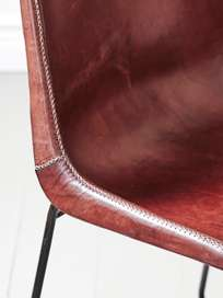 Leather Chair - Brown