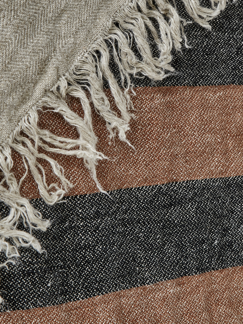 The Belgian Towel - Black Stripe