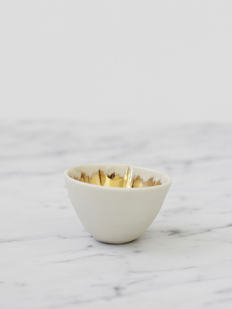 Gold Painted Bowl - Mini