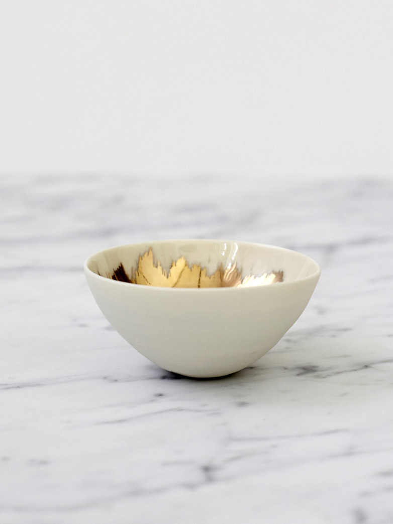 Gold Painted Bowls - Medium