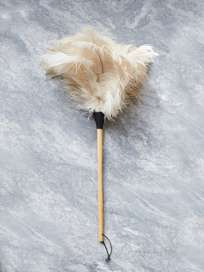 Feather Duster White - 60 cm
