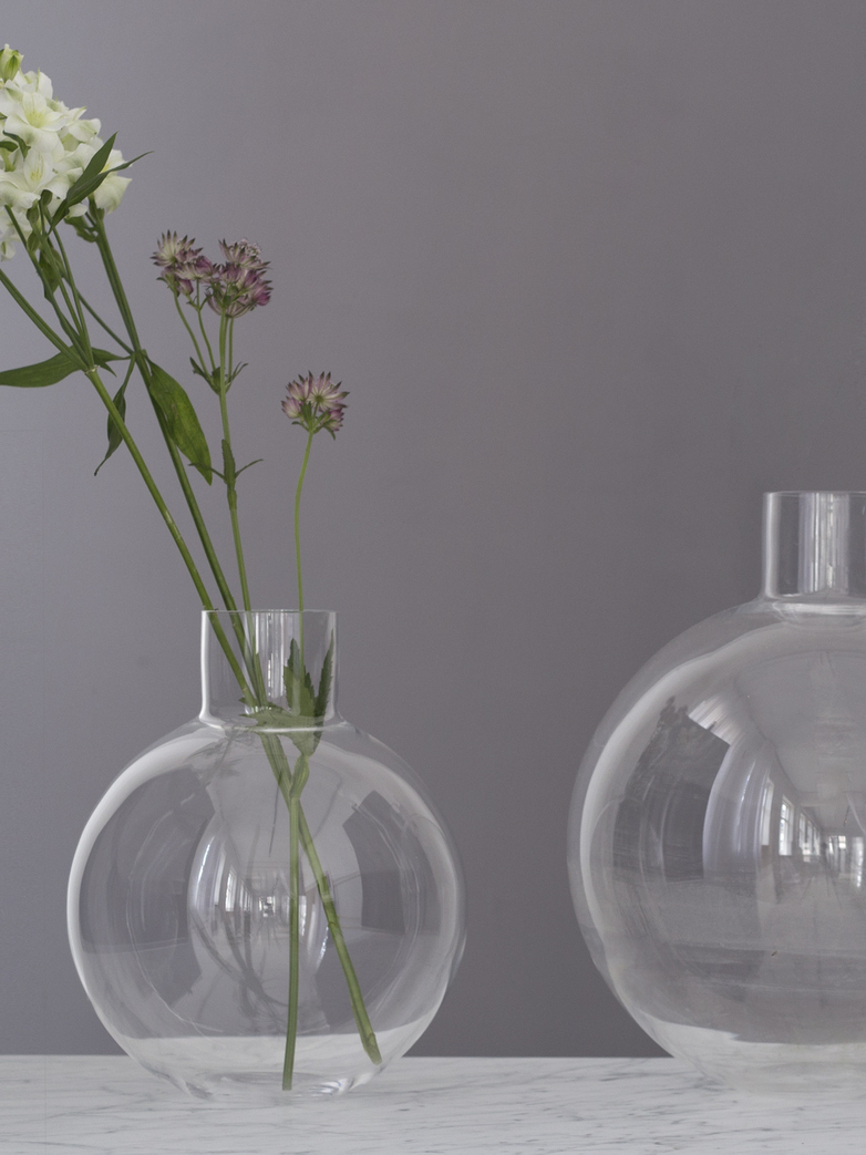 Pallo Vase Clear Small