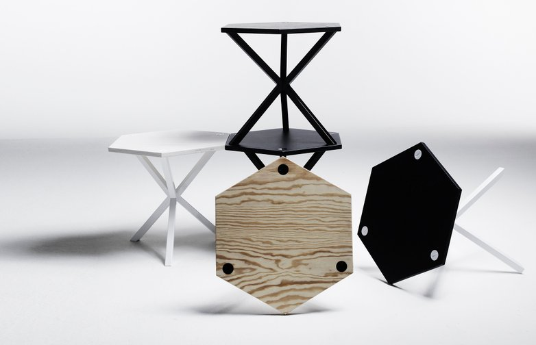 Hexagonal Sidetable