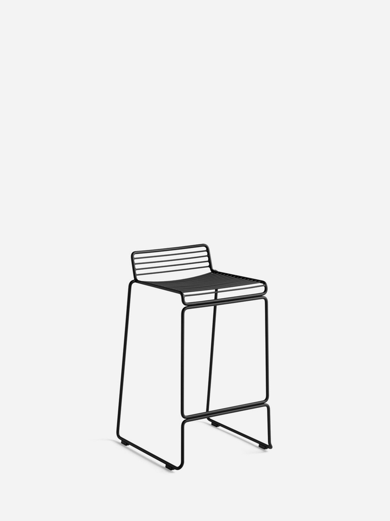 Hee Bar Stool – Black - 65 cm