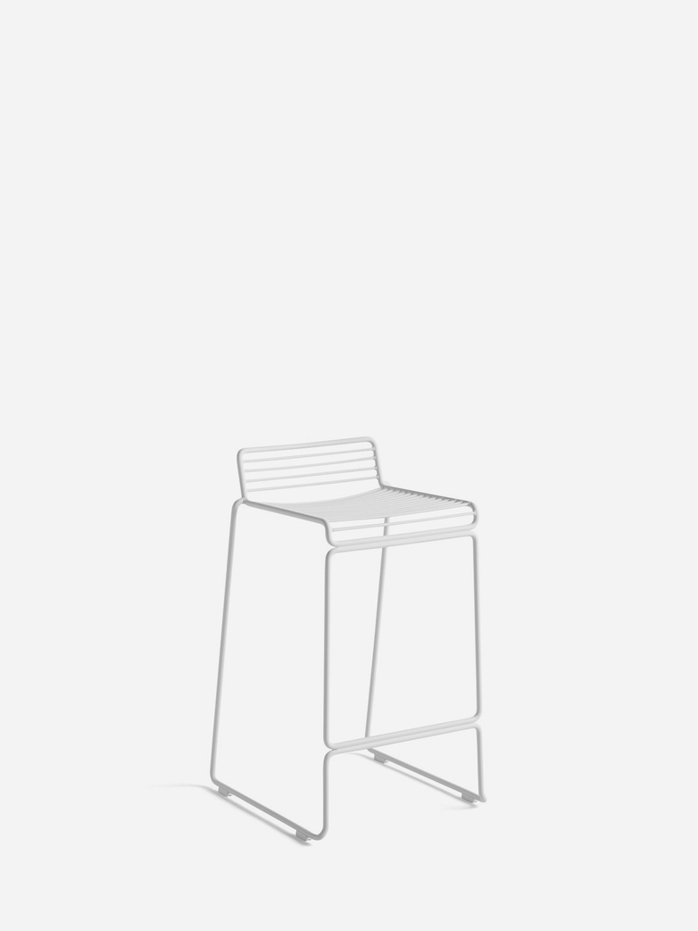 Hee Bar Stool – White - 65 cm