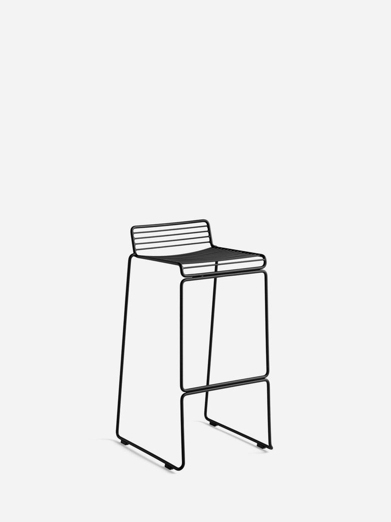 Hee Bar Stool – Black - 75 cm