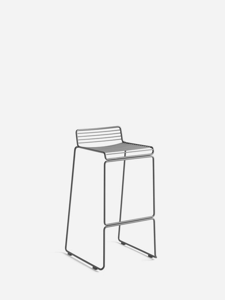 Hee Bar Stool – Grey - 75 cm